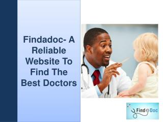 FindaDoc- A Reliable Website To Find The Best Doctors