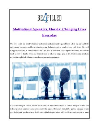 florida motivational speakers