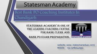 Statesman Academy Best Bank PO Coaching Institutes In Chandigarh