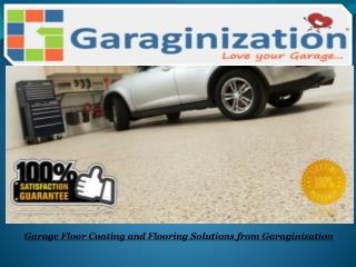 Garage Floor Coating and Flooring Solutions from Garaginization