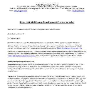 Steps in Mobile App Developmetn Process