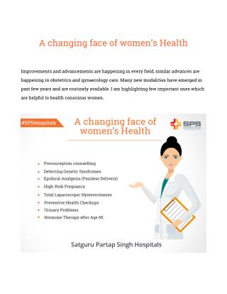 A changing face of women's Health