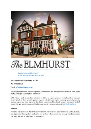 Theelmhurst - Best North London Party Venues