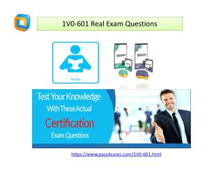 VMware 1V0-601 Actual Questions and Answers