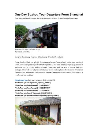 China travel guide suzhou tour