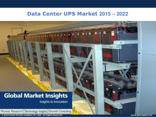 Data Center UPS Market Size to reach $6.65 Billion by 2022: Global Market Insights, Inc.