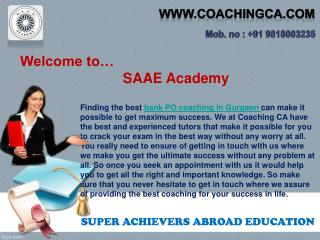 Find the best bank PO coaching in Gurgaon for you