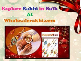 Wholesale Rakhi | Rakhi wholesaler |  91 8510934032