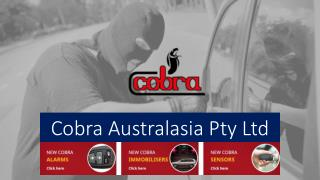 Cobra Aust Offers a Unique Range of Car Security Systems