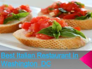 Restaurants In Washington DC