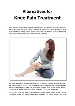 Alternatives for Knee Pain Treatment - Apollo Spectra