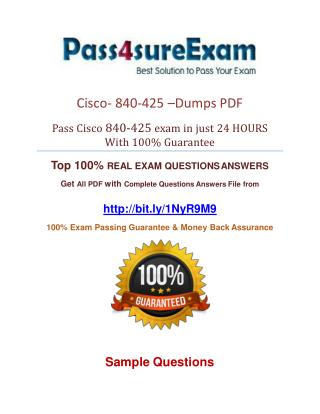 840-425 Practice Test With 100% Passing Guarantee