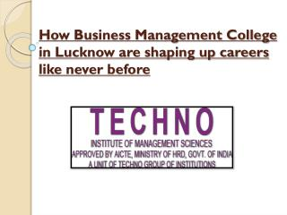 business management colleges in Lucknow