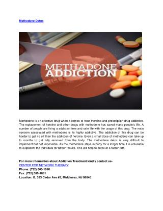 Methadone Detoxification