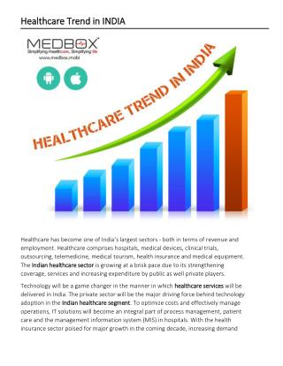 Healthcare Trend in INDIA
