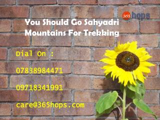 You Should Go Sahyadri Mountains For Trekking
