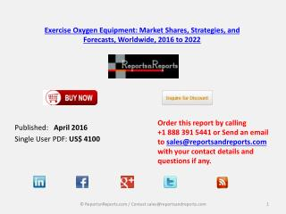 Worldwide Exercise Oxygen Equipment Market Analysis Report 2016 – 2022