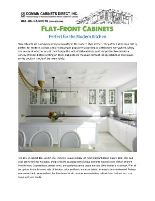 Flat-Front Cabinets Perfect for the Modern Kitchen