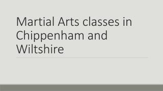 Martial Arts classes in Chippenham and Wiltshire