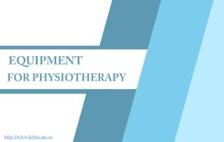 Improve Motion and Balance With Physiotherapy Equipment.