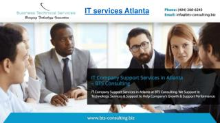 IT Company Support Services in Atlanta – BTS Consulting