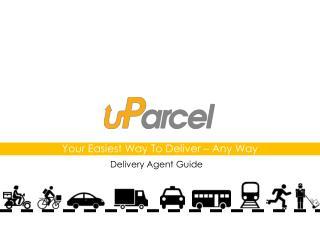 U parcel courier delivery service agent book