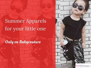 Summer apparels for your little one