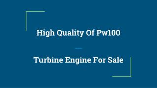 Best Turbine Engines For Sale