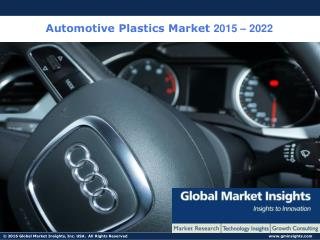 Automotive Plastics Market Size worth $53.8 Billion by 2022: Global Market Insights, Inc.