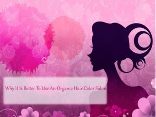 Why It Is Better To Use An Organic Hair Color Salon
