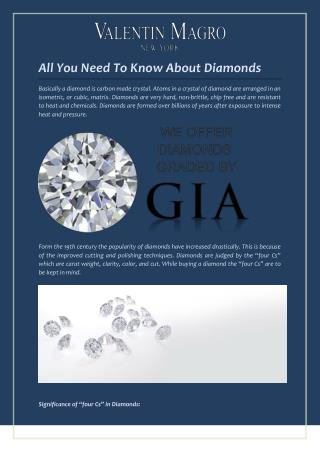 All You Need To Know About Diamonds