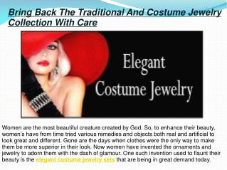 Elegant Costume Jewelry Sets
