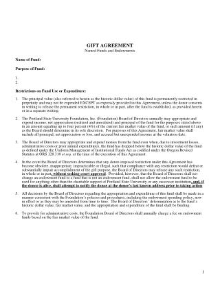Example Gift Agreement