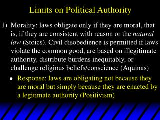 Limits on Political Authority