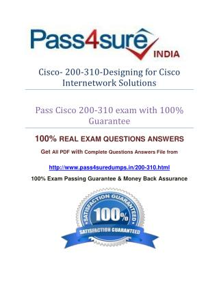 Pass4sure 200-310 Study Guide