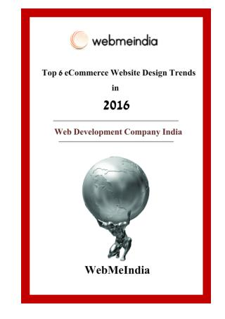 Top 6 eCommerce Website design trends in 2016