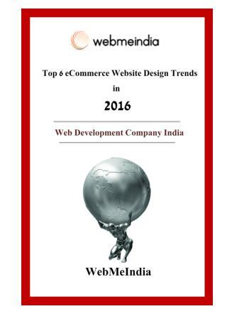 Top 6 eCommerce Website design trends in 2016