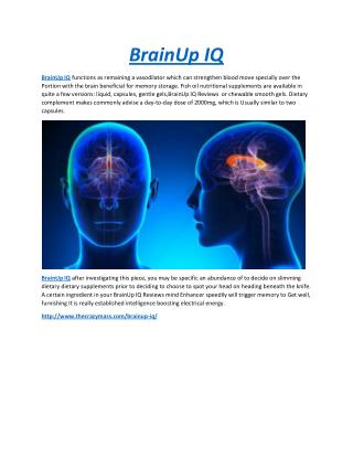BrainUp IQ Improve Your Memory Fast