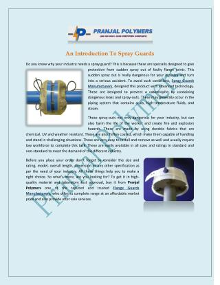 An Introduction To Spray Guards