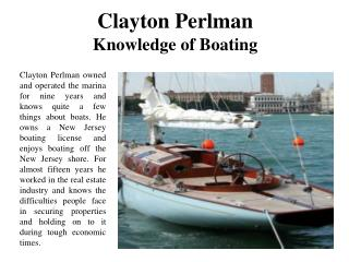 Clayton Perlman Knowledge of Boating