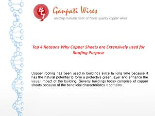Why Copper Sheets used for Roofing Purpose