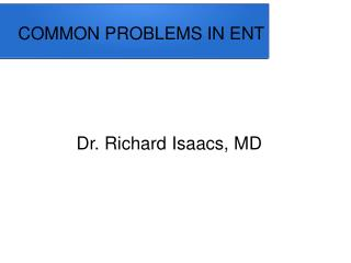 Dr Richard Isaacs