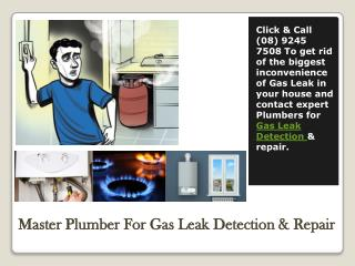 Master Plumber For Gas Leak Detection & Repair