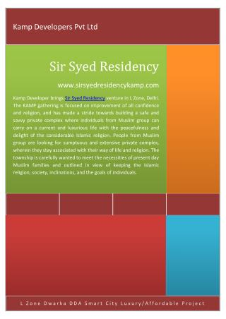 Sir Syed Residency @ 9643355101