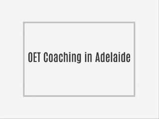 OET Training in Adelaide