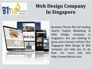 Bthrust web design & seo services Singapore