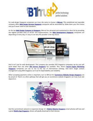 Bthrust web design and seo