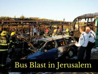 Bus blast in Jerusalem