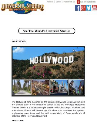 See The World's Universal Studios
