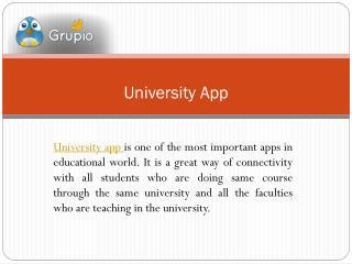 University app -make business successful